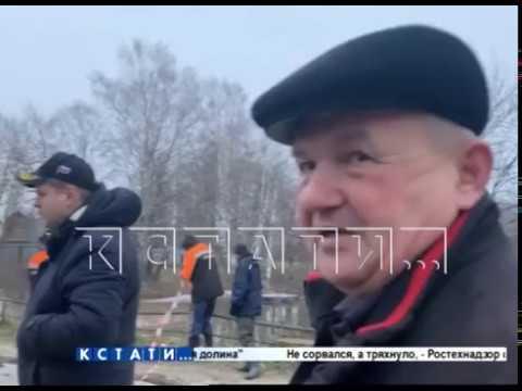 Из-за подъема паводковых вод в Шахунье смыло дамбу и автомобильную дорогу