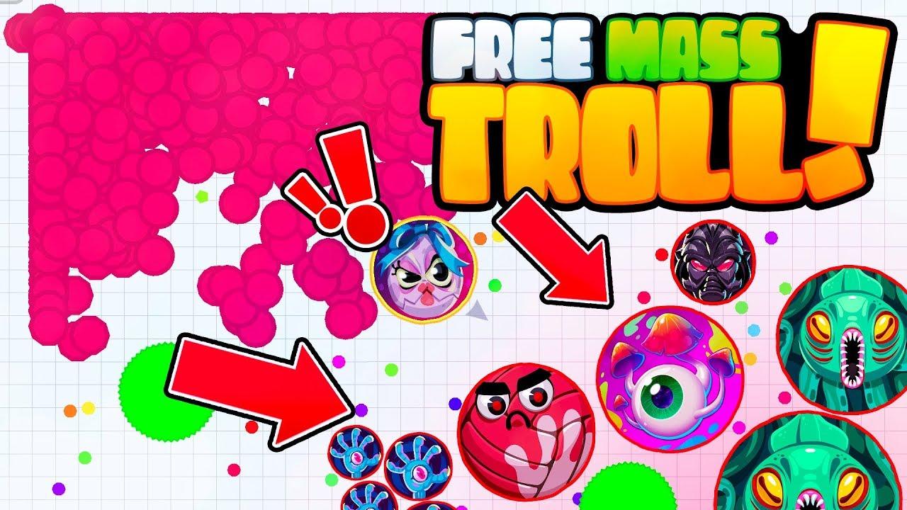Agar.io Mobile - FREE MASS TROLL + VIRUS NINJA