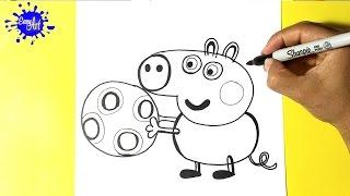 Como dibujar a George pig - How to draw pig George - Peppa pig