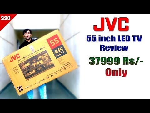JVC 55 inch Ultra HD 4K LED Smart TV Unboxing and Detailed Review in Hindi India