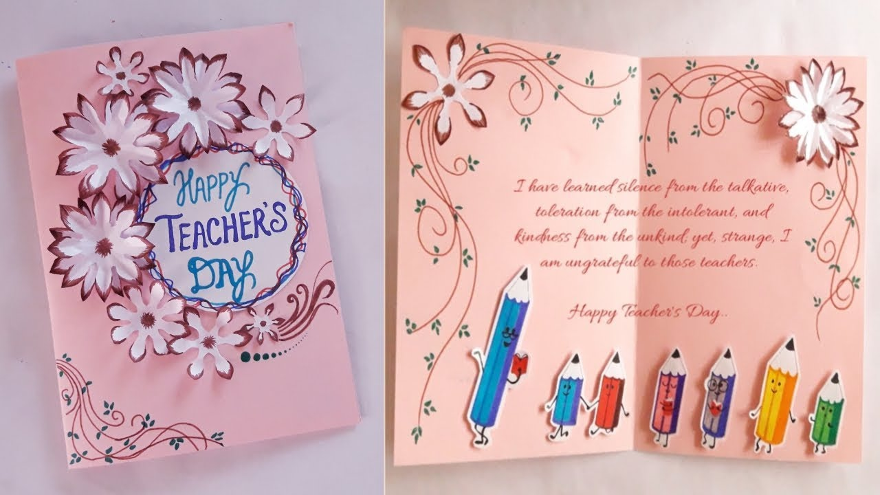 greeting card idea specially for teacher's day  youtube