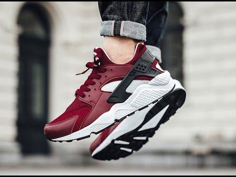 Nike Huarache Rouge Et Blanc Sur Les Pieds rabais vraiment LvEZwfeO