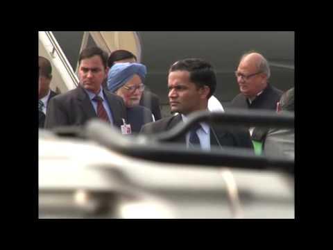 Prime Minister Manmohan Singh arrives at Kochi