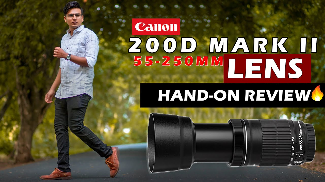Canon 55-250mm Zoom Lens Review   Photo & Video Test (Hindi)
