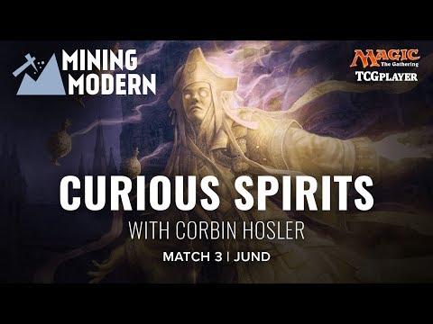 [MTG] Mining Modern - Curious Spirits | Match 3 VS Jund