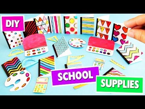 DIY   Miniature Back To School Supplies - 1 - SUPER EASY - simplekidscrafts - simplekidscrafts