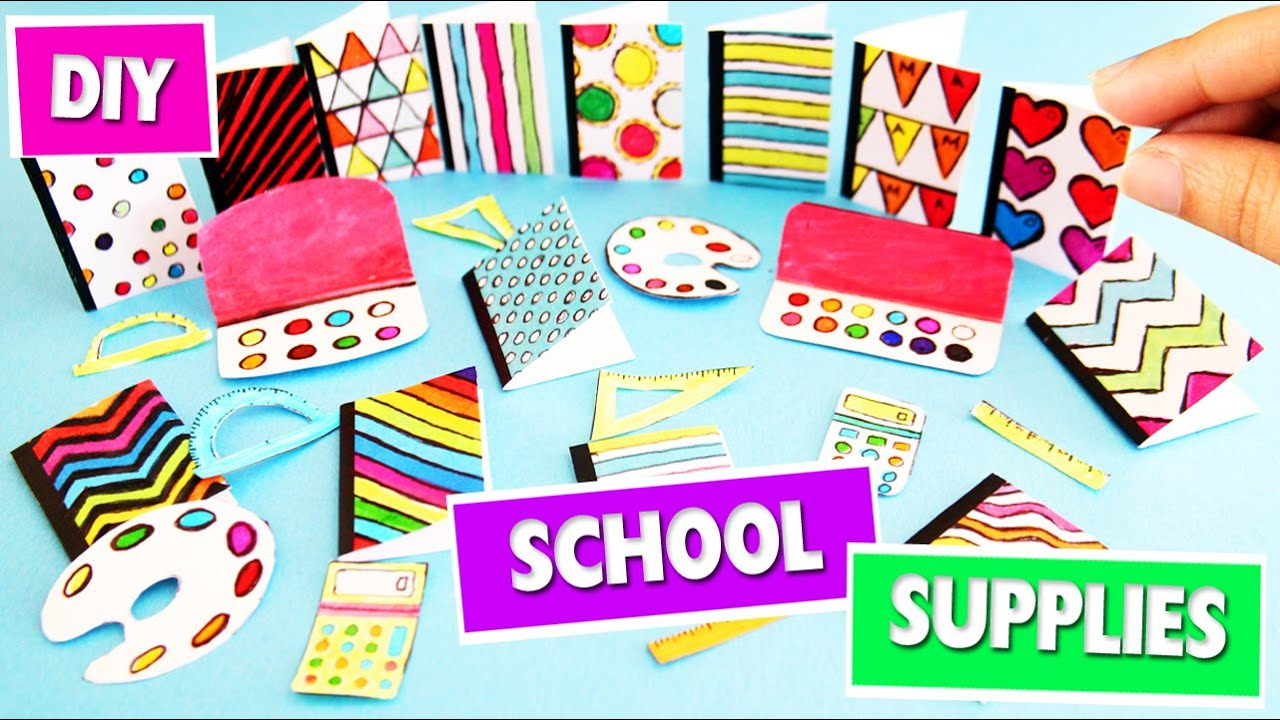 Diy Miniature Back To School Supplies 1 Super Easy