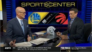 Tim Legler Analyze Game 5: Warriors def. Raptors 106-105; Curry: 31 Pts; Durant left in 2nd