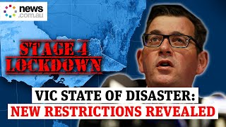 State of Disaster: VIC Premier Dan Andrews announces Stage 4 COVID-19 restrictions