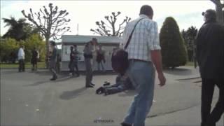 Arrestation musclée de la police municipale au jardin anglais à Genève