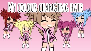 Colour changing hair/READ DESCRIPTION/Gacha life/mini movie