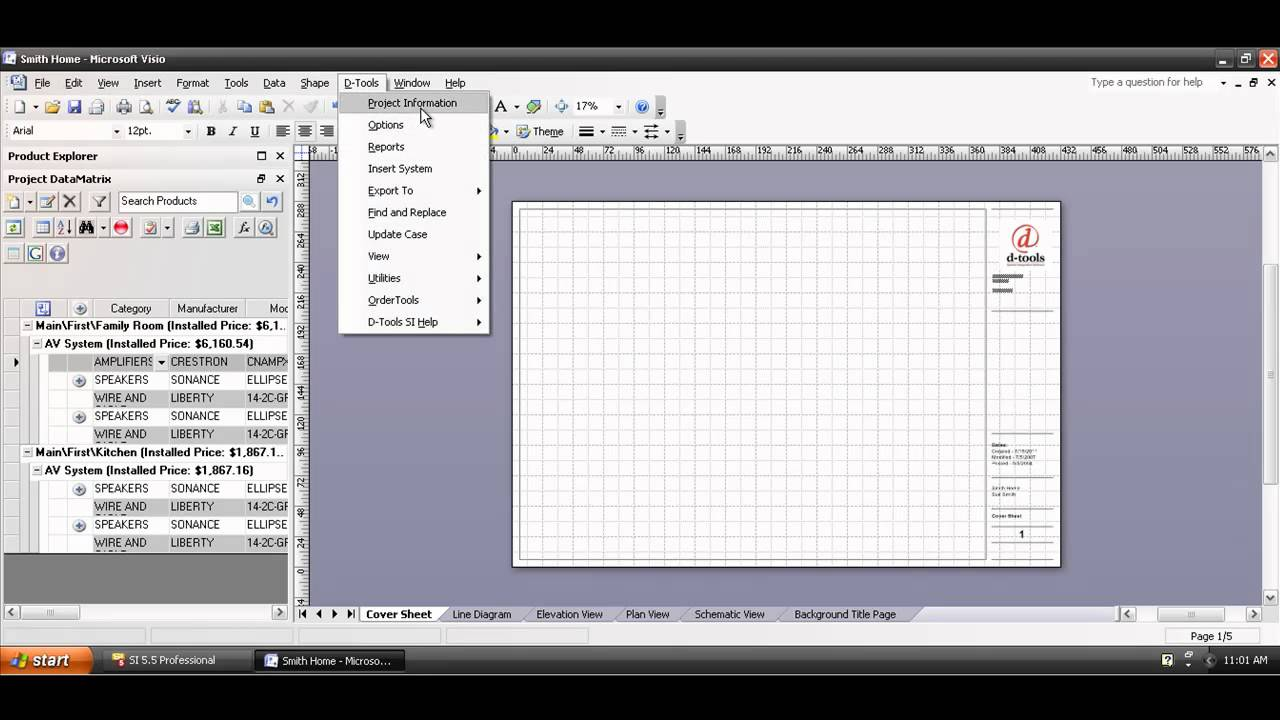 Creating a Visio Project File YouTube