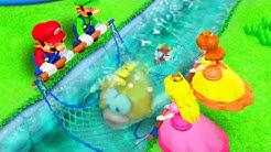 Super Mario Party - Minigames - Mario vs Luigi vs Peach vs Daisy (Net Worth Minigame)