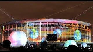 #ФС2018 3D Лазерное шоу на фасаде СКК в Санкт-Петербурге