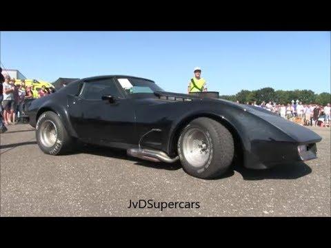 900HP Corvette C3 w 9.85L Big Block! INSANE Accelerations & Dragrace!