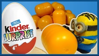 Киндеры с Миньоном. Kinder Surprise Eggs unboxing. Minion.