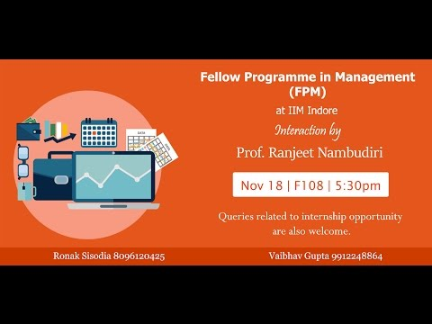 Fellow Programme in Management (FPM) IIM Indore