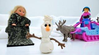 Мультфильм Холодное сердце - Анна ищет Олафа. Идеи для кукол - Мультики для девочек