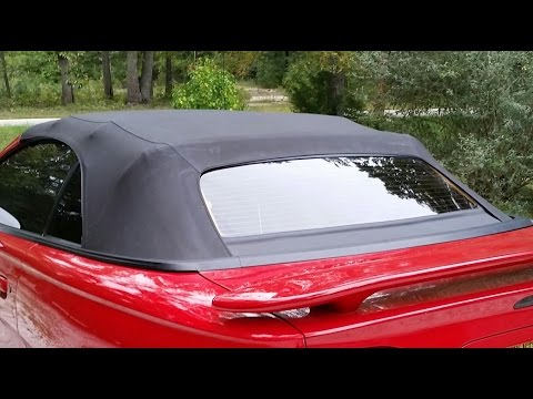 1994 to 2004 Mustang convertible rear window step by step replace Save Money $ $ $