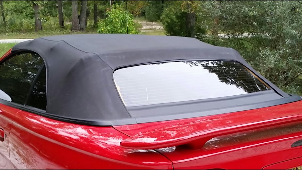 1994 To 2004 Mustang Convertible Rear Window Step By Step