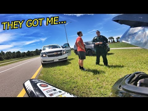 I GOT PULLED OVER ON THE PIT BIKE . . .