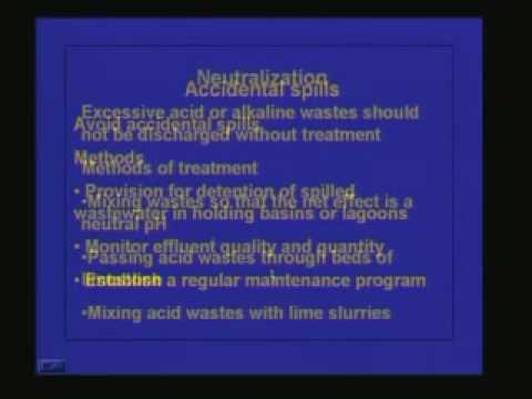 Lecture 36 Industrial Wastewater Treatment