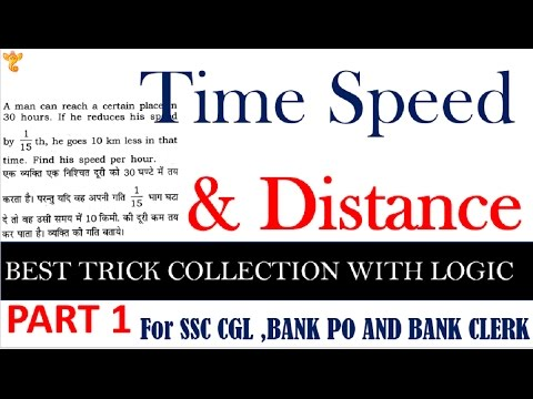 समय तथा दूरी time speed distance tricks in hindi#1 for ssc cgl,mts,cpo si,po,clerk thumbnail