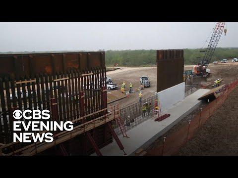 CBS News tours construction of Trump's border wall