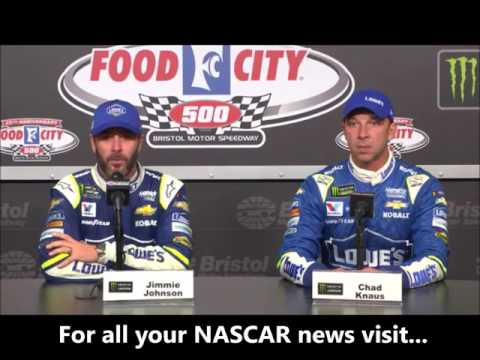 NASCAR at Bristol Motor Speedway, April 2017: Jimmie Johnson, Chad Knaus post race
