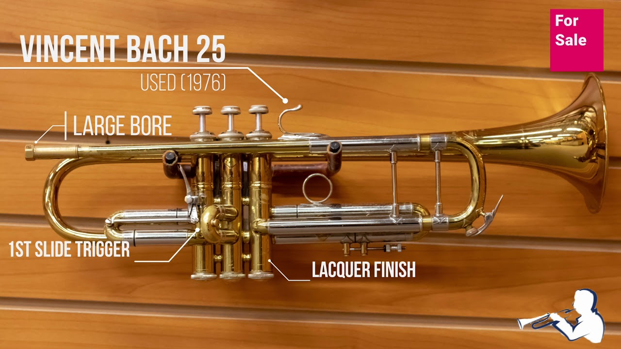 Bach 25 Bb Trumpet Used For Sale Youtube
