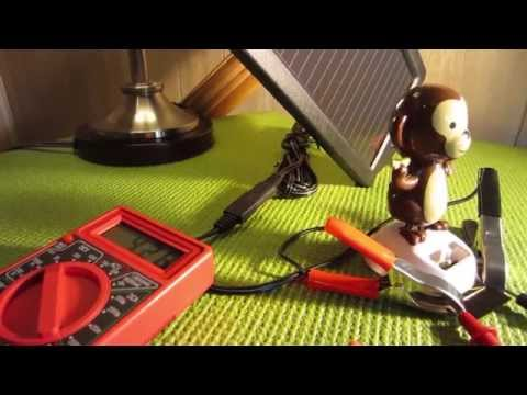 Solar Battery Charger + Solar Dancing Monkey Experiment.