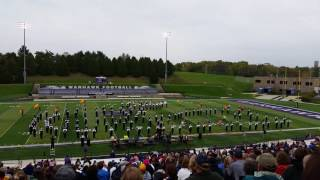 UW Whitewater Warhawk Marching Band WSMA 2016