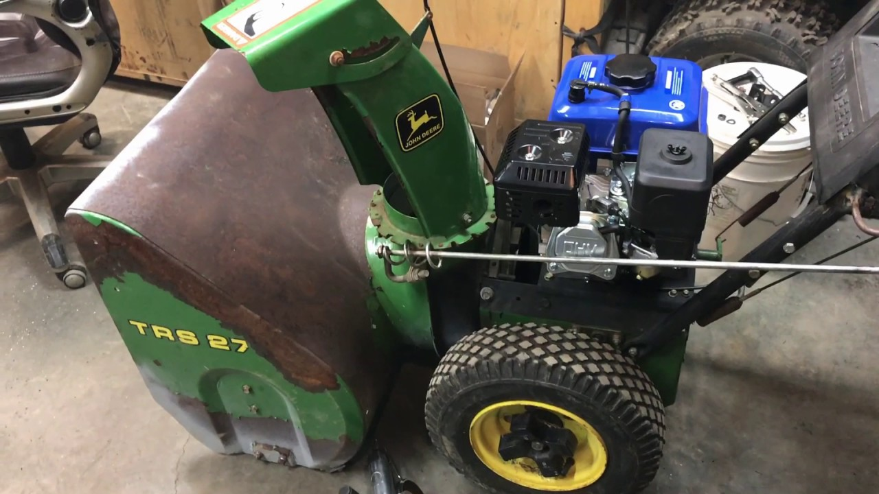 hight resolution of working on the john deere trs27 shitblower other junk