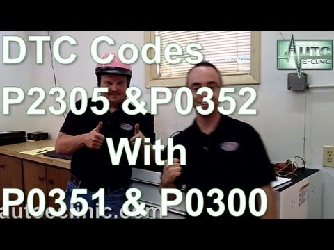 chrysler pt cruiser fuel filter location how to diagnose a check engine light codes p2305 p0352  how to diagnose a check engine light codes p2305 p0352