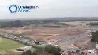 Birmingham Airport Runway Extension Time-Lapse Video