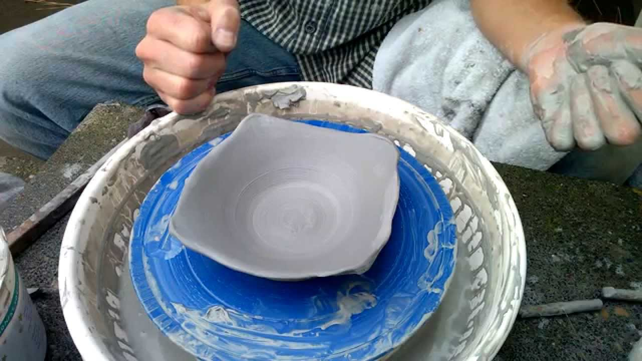 How To Make A Square Ish Plate On The Pottery Wheel Cool