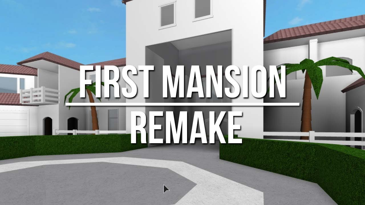Roblox welcome to bloxburg first mansion remake doovi for Building a modern home for 100k