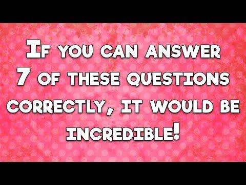 Incredible Hard Trivia Quiz