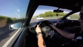 2001 Audi S6 4.2 V8 with manual gearbox on German Autobahn