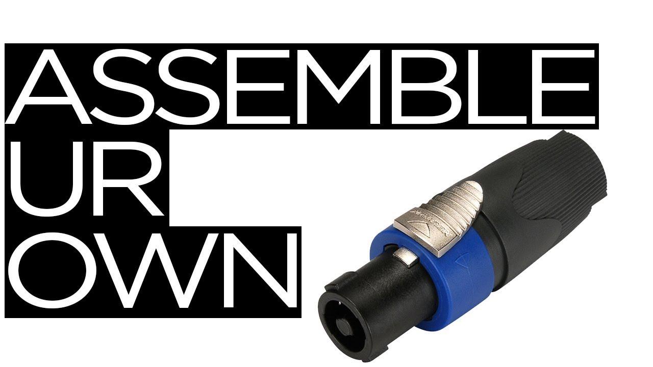 connecting your neutrik speakon connector on wire part 1 [ 1280 x 720 Pixel ]