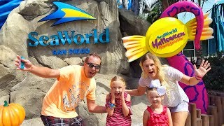 SeaWorld Halloween Spooktacular! Meeting a Real Life Mermaid!!