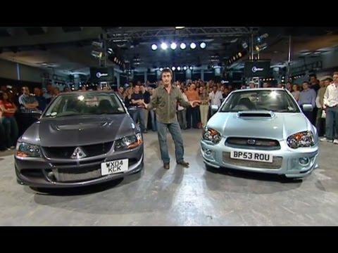 Mitsubishi Lancer Evolution Vs Subaru Impreza Power Lap - The Stig - Top Gear - BBC