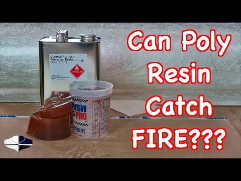 Can Polyester Resin Catch Fire Doing Fiberglass?