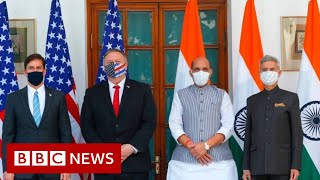 India and US sign crucial defence deal - BBC News