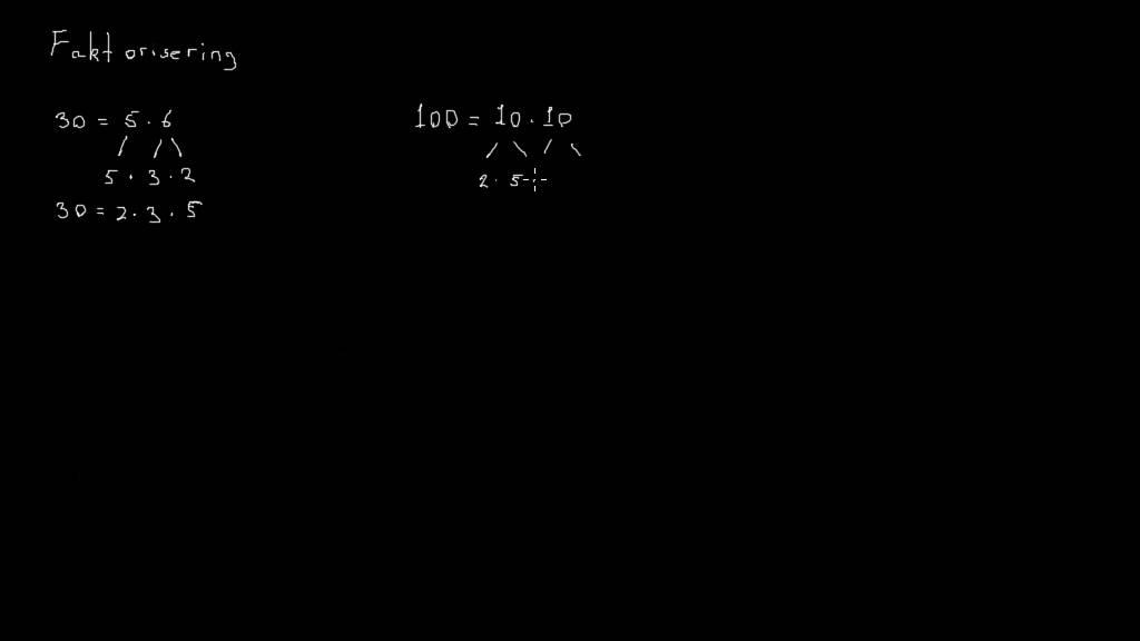 Tal 7 - Eksempler på faktorisering