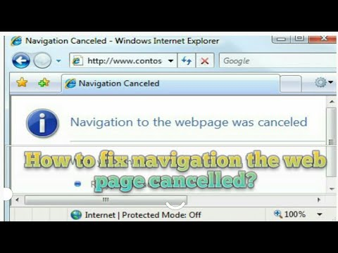 How To Fix Navigation The Webpage Cancelled? (By Lamjung Puranokot)