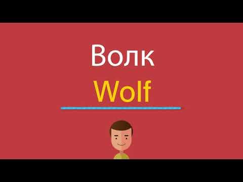Как на английском волк