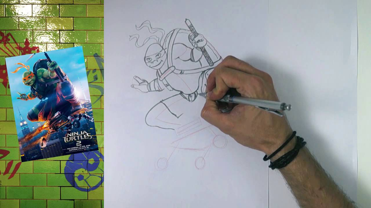 Tuto Dessin Dessiner Michelangelo Des Ninja Turtles Hellokids