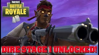 DIRE SEASON 6 STAGE 1 UNLOCKED! | Fortnite Battle Royal