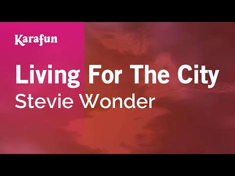Karaoke Living For The City - Stevie Wonder *